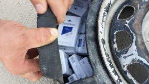 Lastik arasında kaçak sigara sevkiyatına darbe
