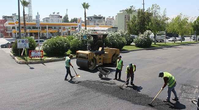 Mersin'de asfaltta son teknoloji kullanılıyor