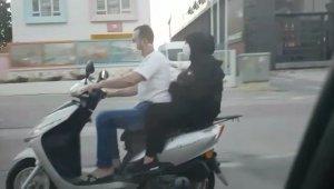 Motosiklet üzerinde bebekli çiftin tehlikeli yolculuğu - Bursa Haberleri