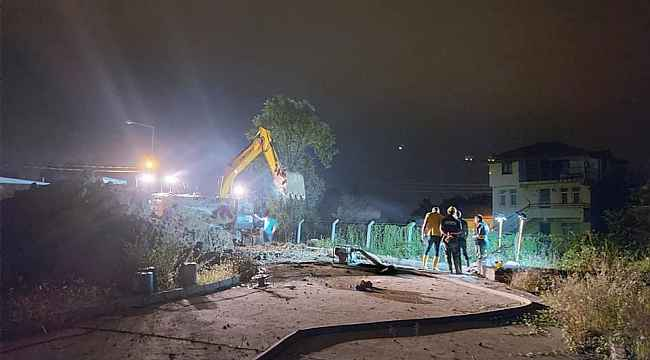 Ordu'da yağmur sulu kanalları temizleniyor