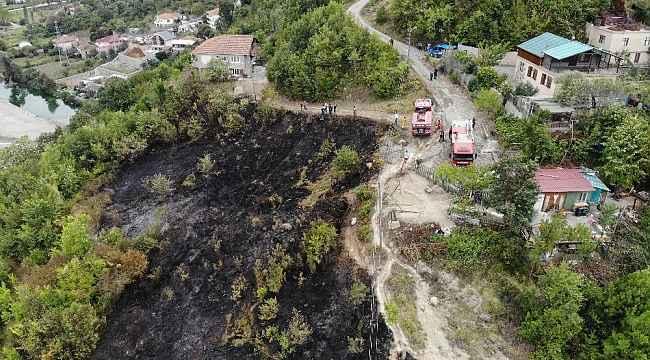 Ormanlık alanda çıkan yangın ekipleri harekete geçirdi