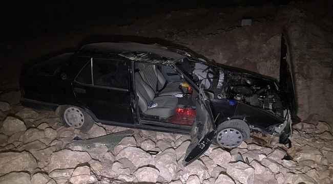 Otomobil 6 metre yükseklikten uçtu: 5 yaralı