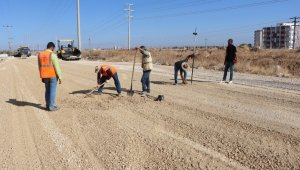 Şanlıurfa Dağ Eteği bölgesine sıcak asfalt