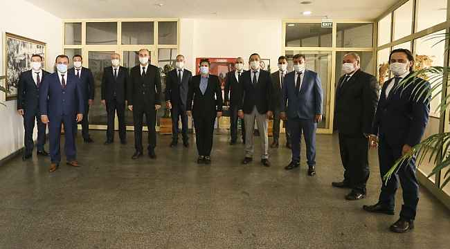 Şehir içi Motorlu Taşıtlar Kooperatifi'nden Başkan Çerçioğlu'na ziyaret