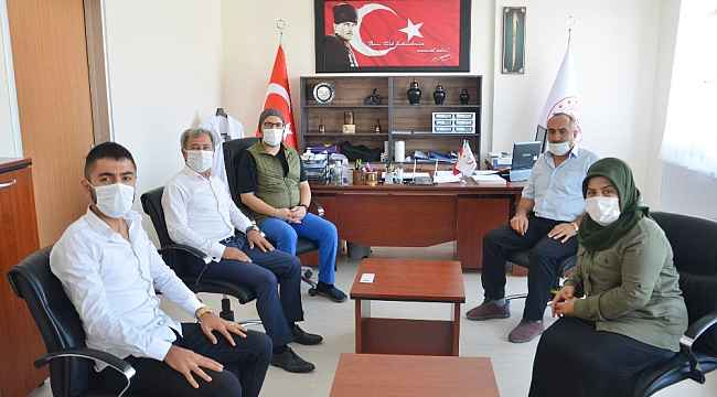 Şehit ailesinden Başhekim Dr. Canbay'a ziyaret