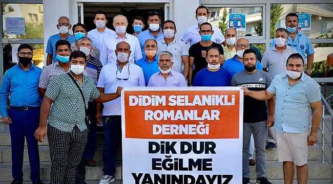 Selanikli romanlardan Başkan Atabay'a destek