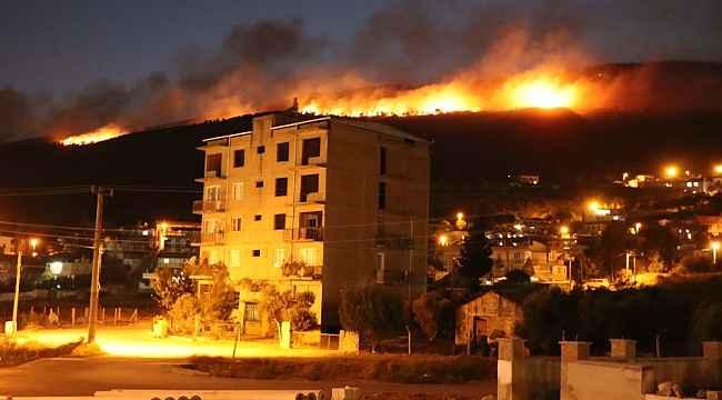 Söke'deki yangın rüzgar nedeniyle kontrol altına alınamıyor