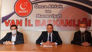 SP Van İl Başkanlığı Kapıköy Sınır Kapısının açılmasını istedi