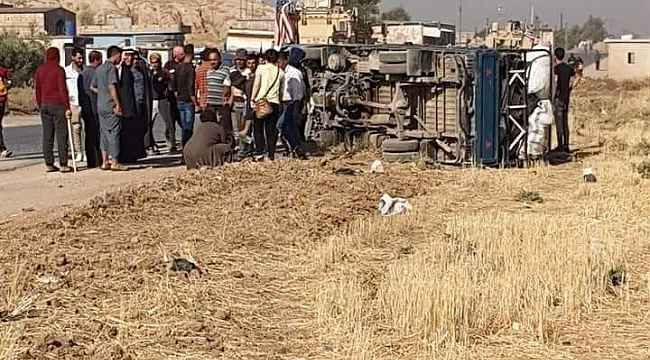 Suriye'de ABD askeri aracı ile otomobil çarpıştı