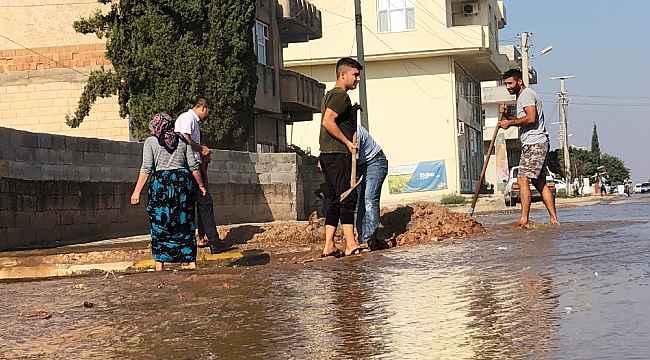 Suruç'ta taban suyu yükseldi, mahalleleri su bastı