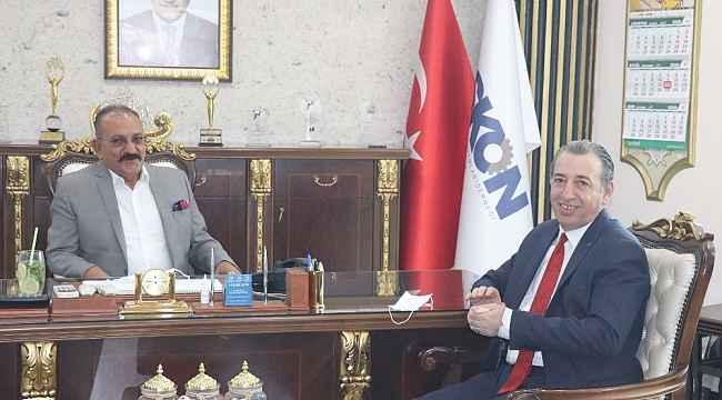Türkmen Bakan, ASKON Şube Başkanı Arslan'ı ziyaret etti