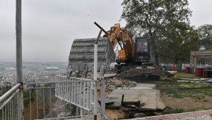 Uludağ yolundaki kaçak kafetarya yıkıldı - Bursa Haberleri