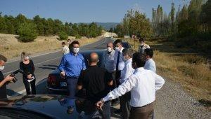 Vali Çelik Murat Dağı yol çalışmalarını inceledi