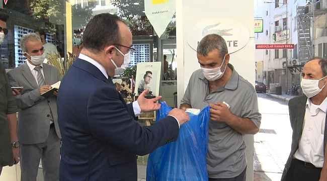 Vali, engelli şahsın tüm maskelerini satın aldı, ilgilenilmesi için talimat verdi