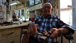 66 yıldır ekmeğini makas ve usturadan çıkarıyor