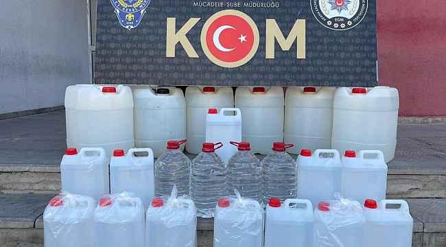 Adana'da kaçak içki ve sigara operasyonu