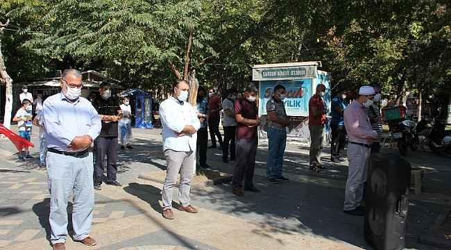 Adıyaman'da Azerbaycan için gıyabi cenaze namazı kılındı