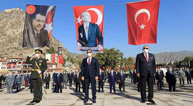 Amasya'da 29 Ekim Cumhuriyet Bayramı kutlandı