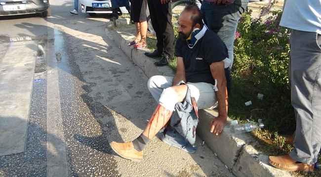 Antalya'da tur otobüsüyle traktör çarpıştı: 2 yaralı