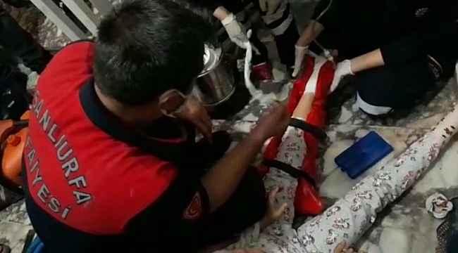 Ayağı asansöre sıkışan çocuk kurtarıldı