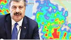 Bakan Fahrettin Koca'nın dikkat çektiği Bursa'da haritanın hali - Bursa Haberleri