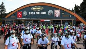 """Balıkesir'de """"Cumhuriyet Bisiklet Turu"""" düzenlendi"""