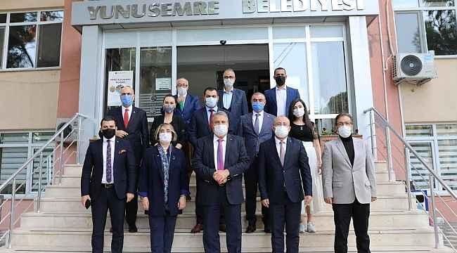 Başkan Çerçi Türkiye Kent Konseyleri Birliği'ni ağırladı
