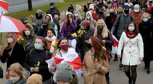 Belarus'taki protestolar devam ediyor