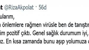 Beşiktaş Belediye Başkanı Rıza Akpolat, korona virüse yakalandı