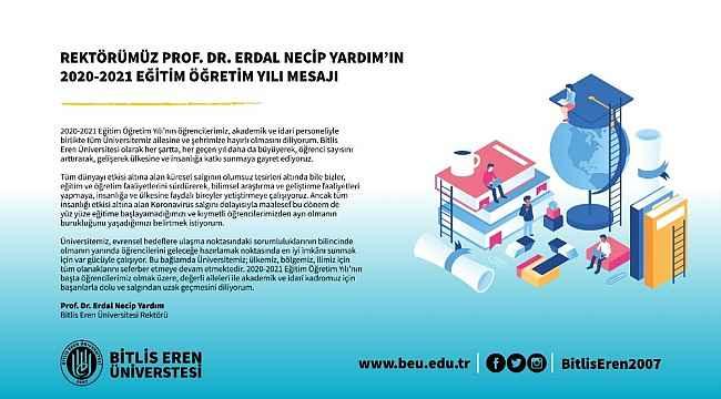 BEÜ Rektörü Yardım'ın 2020-2021 eğitim öğretim yılı mesajı