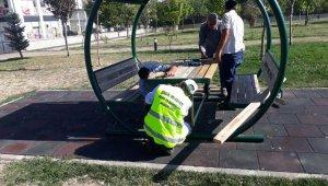 Bingöl'de tahrip edilen parklar onarılıyor