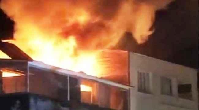 Bodrum'da bir otelin terasında çıkan yangın korkuttu