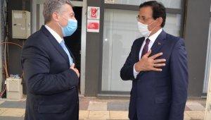Bolu Valisi Ümit'ten Sakarya BİK Sakarya Şube Müdürü Çorbacı'ya ziyaret