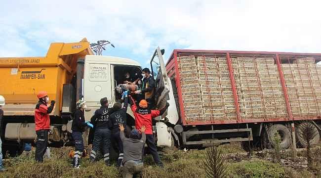 Bolu'da 2 kamyon kafa kafaya çarpıştı: 2 yaralı