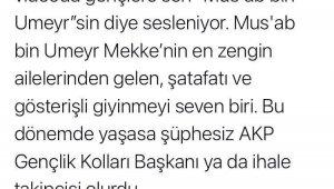 """CHP'li danışmanın """"sahabe"""" eleştirilerine Göksu'dan anlamlı yanıt"""