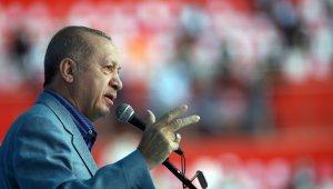 """Cumhurbaşkanı Erdoğan, """"Biz güçlü durdukça Türkiye de güçlü duracaktır"""""""