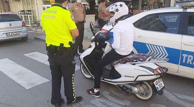 Dalaman'da polisten motosiklet denetimi