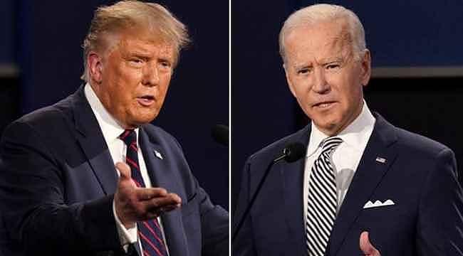 Donald Trump, başkanlık yarışındaki rakibi Joe Biden'ın taklidini yapıp dalga geçti