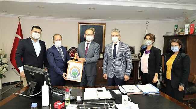 Ege ve Marmara Çevre Belediyeler Birliğinden Başkan Çetin Akın'a ziyaret