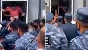 Ermeni gençler, polis zoruyla otobüse bindirilip cepheye gönderildi