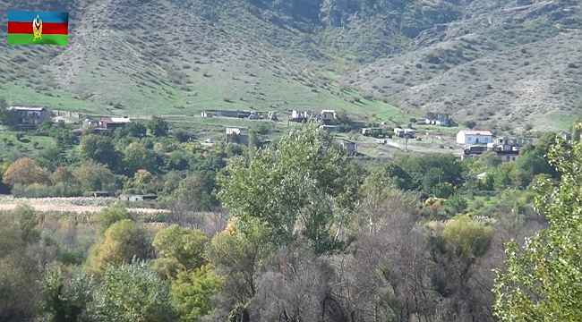 Ermenistan'ın işgalinden kurtarılan köyler görüntülendi
