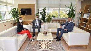 Genel Müdür Burak Aslay'dan SGK Müdürü Kurt'a ziyaret