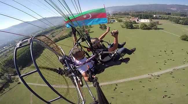Havacılardan Azerbaycan'a gökyüzünde destek