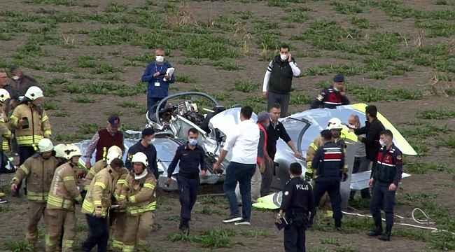 Uçağın pilotaj lisans öğrencisi yaralı olarak kurtarılmıştır