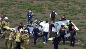 İstanbul Hezarfen Havalimanı'ndan havalanan bir eğitim uçağı düştü. Uçağın pilotu yaralı olarak kurtarıldı. Pilot 112 ekipleri tarafından hastaneye kaldırılıyor. Ekiplerin olay yerinde incelemesi devam ediyor.