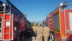 İtfaiyeden Jandarmaya yangın eğitimi