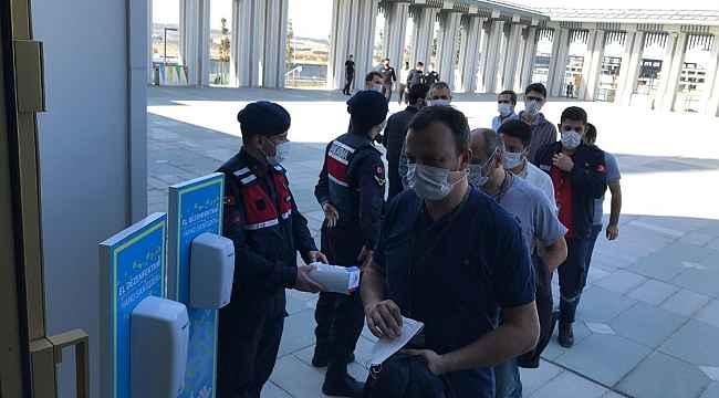 Jandarma'dan İstanbul Havalimanı Camii'nde korona virüs denetimi