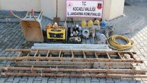 Kaçak define avcıları kazdıkları metrelerce derinlikteki kuyu içerisinde böyle yakalandı