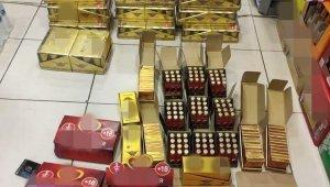 Kara listede bulunan çikolata ve içecekler ele geçirildi