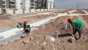 Karaköprü'de yeni park çalışması